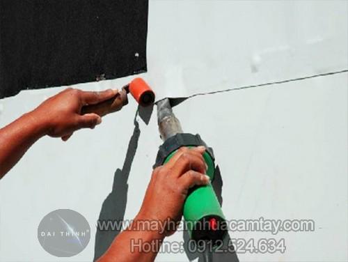 Máy hàn bạt nhựa, hàn màng nhựa chống thấm cầm tay dsh xa